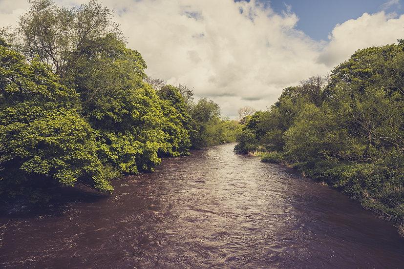 Premium Quality Art Print | River Aire Print | Yorkshire Photo Restoration