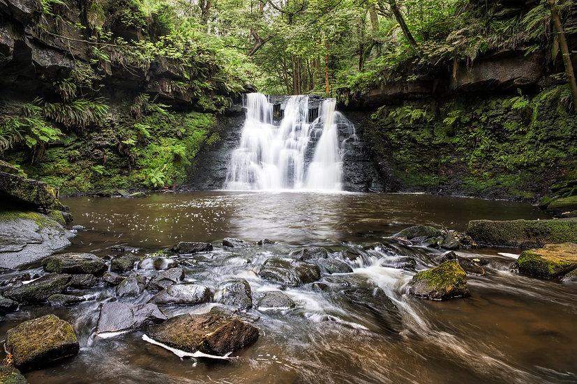 Premium Quality Art Print | Goit Stock Waterfall | Yorkshire Photo Restoration