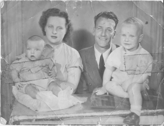 Heavily Damaged Family Photo