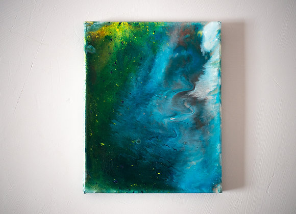 Milky Way Acrylic Pour Paintingon canvas, Art, Wall Art, Canvas