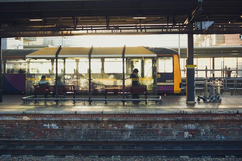 Premium Quality Art Print |  Leeds Train Station  | Yorkshire Photo Restoration