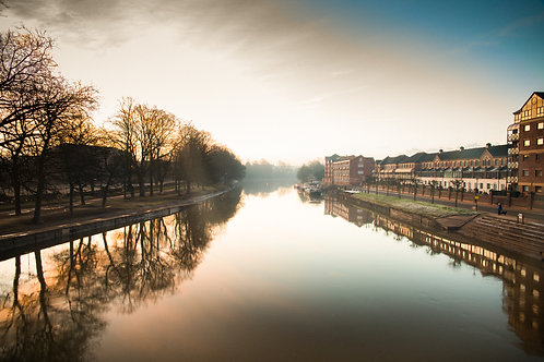 Premium Quality Art Print | River Ouse | Yorkshire Photo Restoration