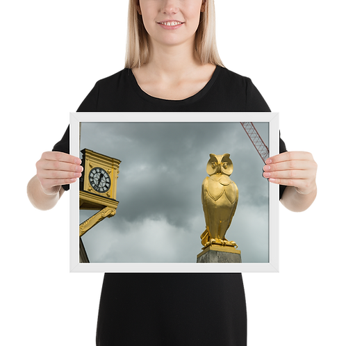 Premium Quality Art Print | Leeds Golden Owl  | Yorkshire Photo Restoration