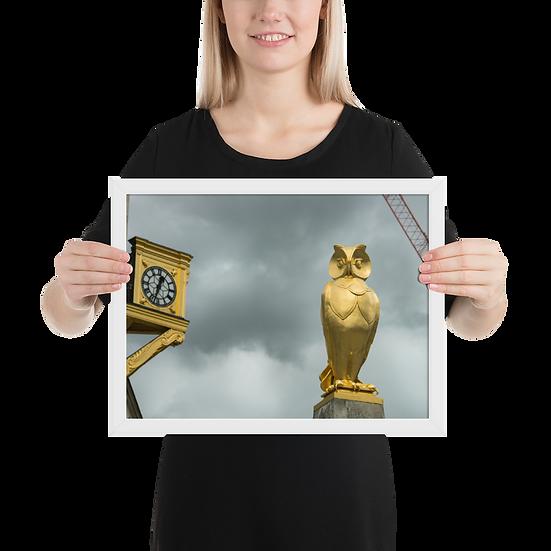 Premium Quality Art Print | Leeds Golden Owl  | Yorkshire Photo Restoration