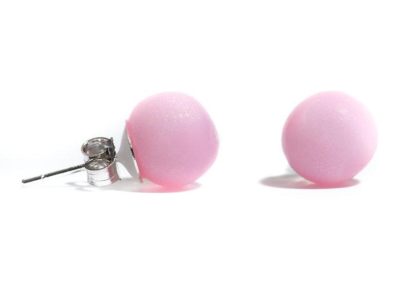 Pink Pearl style Studs, Pink Earrings, Shiny Earrings