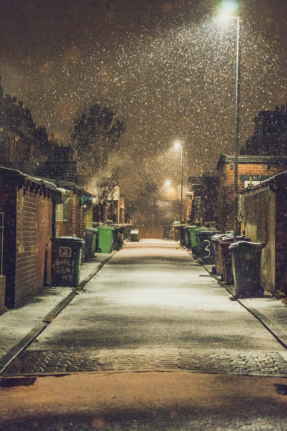 An Alleyway in the snow