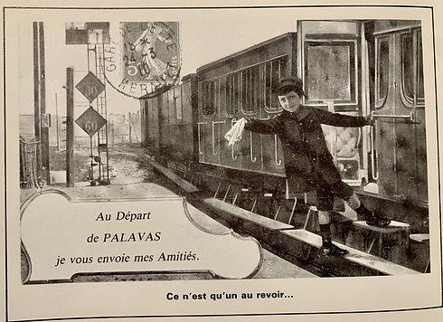 Le train de Palavas à Montpellier