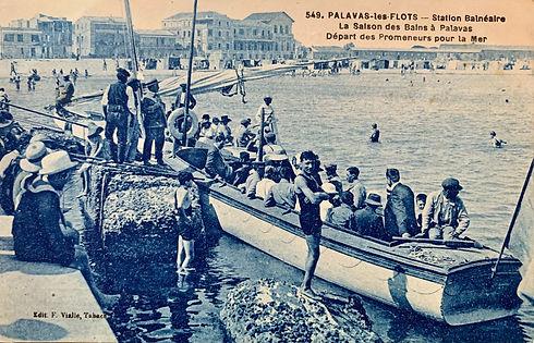 La saison des bains de mer à Palavas les