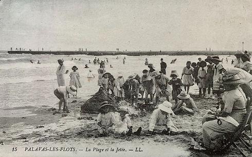 Palavas les Flots la plage et la jetée