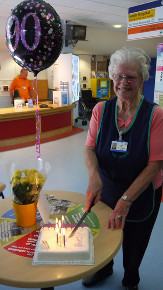 Volunteer Betty is Ninety Not Out