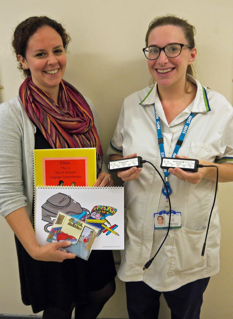 """Speech and language therapists Carrie Collins (rig                                          ht) and Elena Brooks with some of the pur-chased items: hardware interfaces and stationery . RENTAL FIRM IN DRIVING SEAT FOR A DONATION The ability of the Friends to buy medical equipment or facilities has been helped by the generous donation of £1,500. The cheque came from the Enterprise Holdings Foundation, the philanthropic arm of Enterprise Holdings, of which Enterprise Rent-A-Car (with a branch in Newport) is a subsidiary. Presenting the cheque at the hospital, Andrew Hall, the Winchester based Strategic Accounts Manager for Enterprise Rent-A-Car, said, """"We are happy to give something back to the communities in which we operate."""" LIST OF AGREED GRANT APPLICATIONS AMOUNTS OVER £500 Rehab/Stroke Unit Equipment to move patients £1,207.00 Catering Stick blender £595.19 Emergency Dept. Warming cabinet for fluids to boost body temperature £4,482.08 Patients'waiting area Four seat unit £870.00 GMO – SWCH Handheld dopplers for Community Midwives £5,657.70 Appley Ward Intensive Care chair £4,999.00 Day Surgery Patient chairs £,400.00 Pathology Chairs for staff rest room £9,532.80 Sexual Health Service Gynae couch £3,200.03 Children's SLT Clinic toys and books £982.91 Chronic Pain Neurotherm Radio Frequency RF Generator £16,950.00 Out-Patients & Home Parental Infuson Oxford Meditech Biomixer £2,582.00 Afton Ward Two Reclining Chairs for dementia patients £1,939.20 South Wight Rehab Dementia games £800.00 Occupational Therapy Compact splint pan £520.00 Mortuary Enhanced Rest Room facility £568.80 Stroke Unit Arjo hoist for patients' mobility £8,524.00 Ambulance Service Fluid warmers for hypothermia £20,925.00 Occupational Therapy Portable gantry hoist £2,384.00 Children's Ward Vinyl wall graphic to enhance corridor £516.00 PAAU Phlebotomy trolleys £3,112.20 Sunshine Radio Towards up-grade of studio £5,000.00 Ambulance Pre-surgery traction leg splints £3,000.00 Shackleton Dementia r"""