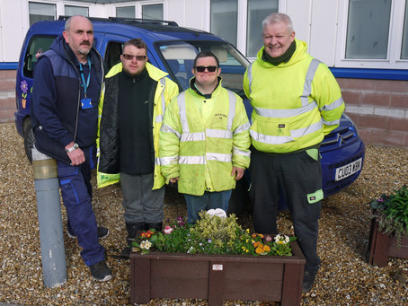 Flower Boxes Brighten Up the Hospital's Grounds