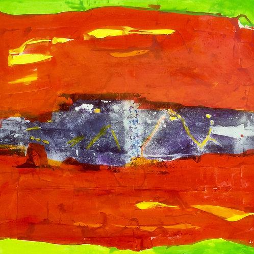 Michael Eldridge - Acrilico su tela 120 x 120 cm
