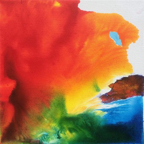 Michael Eldridge - Acrilico su tela 20 x 20 cm
