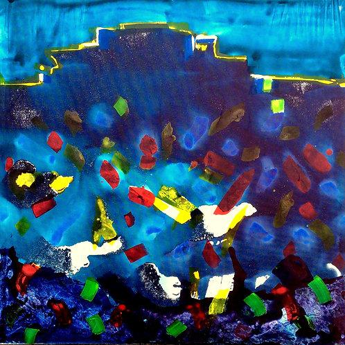 Michael Eldridge - Acrilico su tela 60 x 60 cm