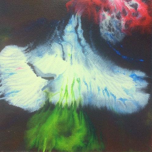 Michael Eldridge - Acrilico su tela 15 x 15 cm