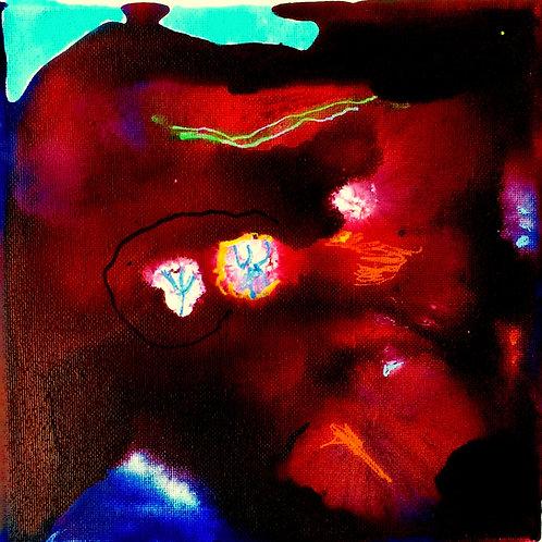 Micheal Eldridge - Acrilico su tela 15 x15 cm