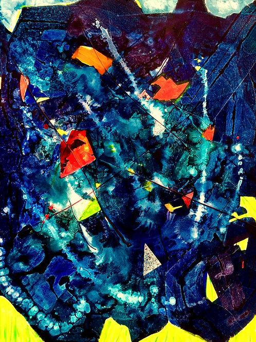Michael Eldridge - Acrilico su tela 100 x 80 cm