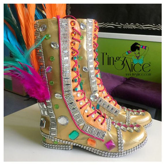 DIY Carnival Boots by T'ingz Nice