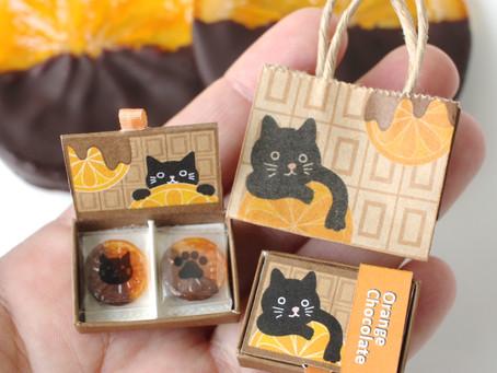 猫のオレンジショコラ。