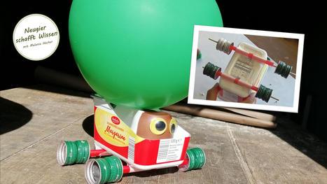 Auto mit Luftballonantrieb