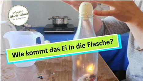 Wie kommt das Ei in die Flasche? Experimente für Kinder mit Luft und Feuer