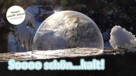 Einfach schön - gefrorene Seifenblasen - kaltes Wetter Spezial