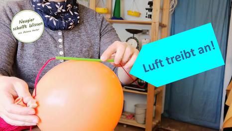 Pusteröhrchen und Luftballonrakete