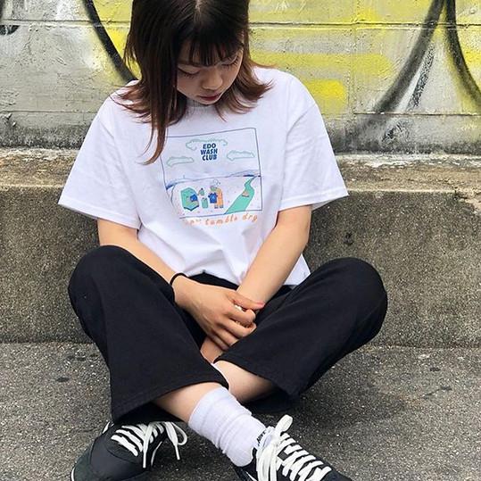 EDO WASH CLUBの夏仕様カラーのTシャツが _81teez さんのオン