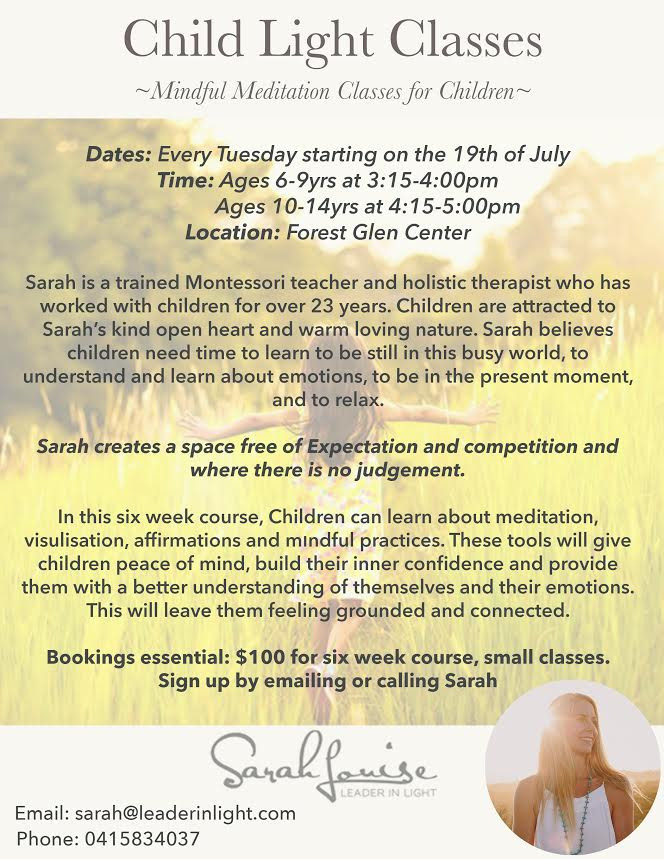 Children's Mindful Meditation Classes