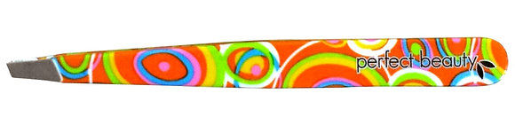 Orange Psychedelic Tweezers - Slanted Tip