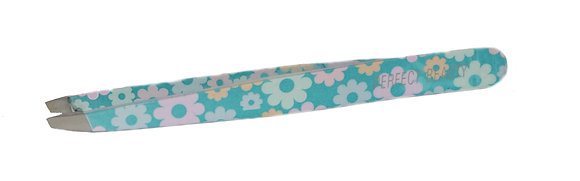 Blue Pluck It Up Butter Cup Tweezers - Slanted Tips