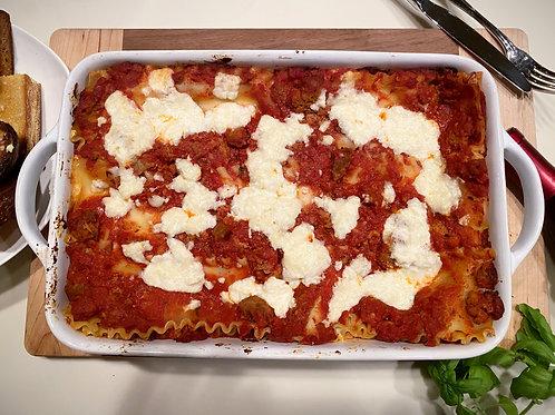 Meatball & Sausage Lasagna