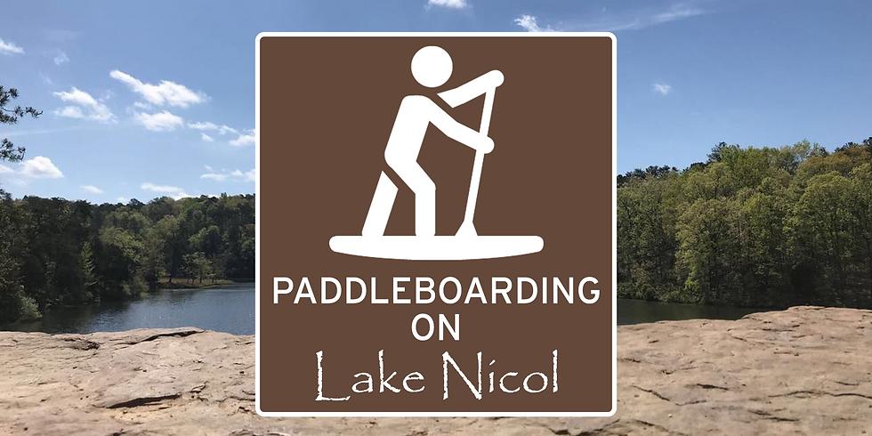 Paddleboarding on Lake Nicol