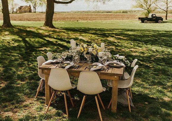 8 Top Square Farm Table