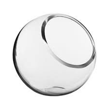 3 Inch Slant Glass Bowl