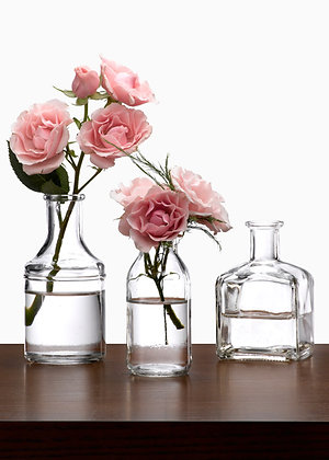 Glass Bottles & Bud Vases
