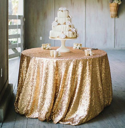 "120"" Round Sequin Table Linen"