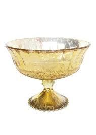 Gold Mercury Round Compote Dish