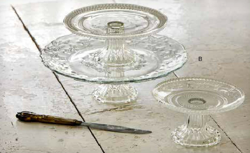 Vintage Glass Cake Stands (assortment)