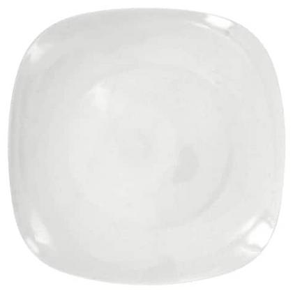 Contemporary Square White Salad Plate