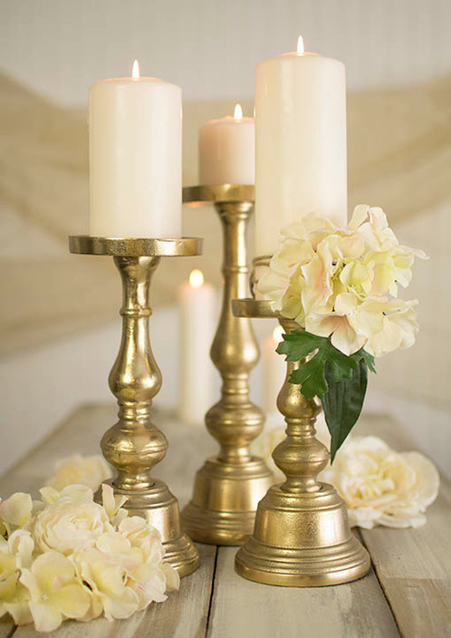 Gold Metal Candle Holders Supply Event Rentals Planning