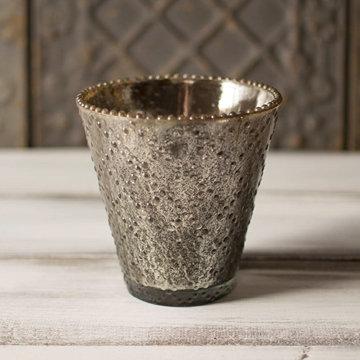 Mercury Glass Bud Vase or Candle Holder