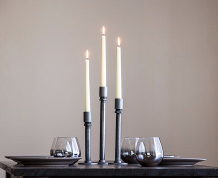 Pipe Candle Holders