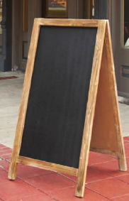 A-Frame Double Sided Chalkboard Sign