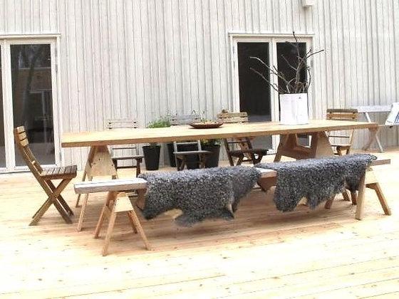 Sawhorse Farm Table