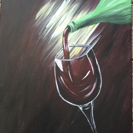 Pouring Wine Glass