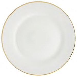 Gold Rim Stoneware Plate