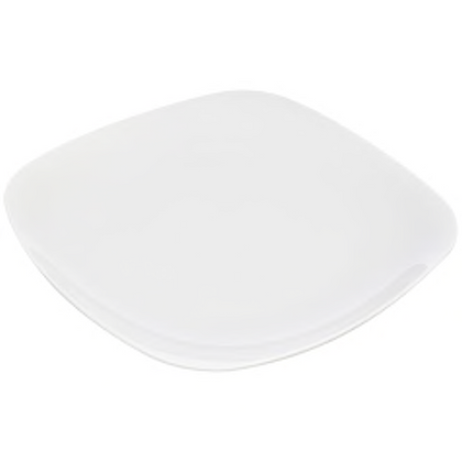 Contemporary White Square Dinner Plate