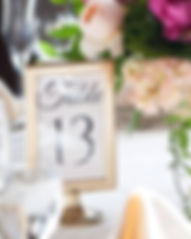 Table Number Rental Wedding Kansas